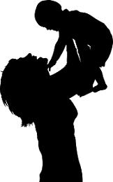 dibujo mujer y bebe